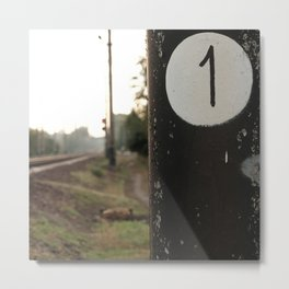 First of many milepost, start of the road Metal Print