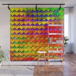 dp001-1 colorful heart digital painting Wall Mural