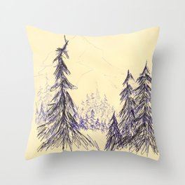 Ink Forest Throw Pillow