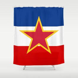 Yugoslavia National Flag Shower Curtain