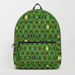 22 beetle species on green leaves Backpack