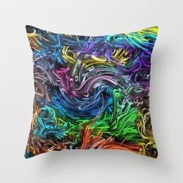 Magic Colors B Throw Pillow