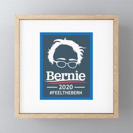 BERNIE SANDERS 2020 #FEELTHEBERN Framed Mini Art Print
