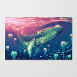 Life of Pi whale Canvas Print