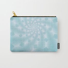 Tess Fractal in Frozen Blue Carry-All Pouch