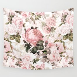Vintage & Shabby Chic - Sepia Pink Roses  Wall Tapestry