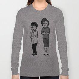 Doctor Who companions: Susan and Barbara (no text) Long Sleeve T-shirt
