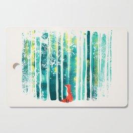 Fox in quiet forest Cutting Board