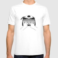 Good Morning, Dear White SMALL Mens Fitted Tee