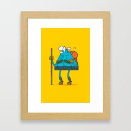 Mr. Mountain Man: Sunny Day Framed Art Print