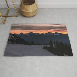 Rising Sun in the Cascades - nature photography Rug