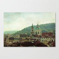 Prague Rooftops Canvas Print