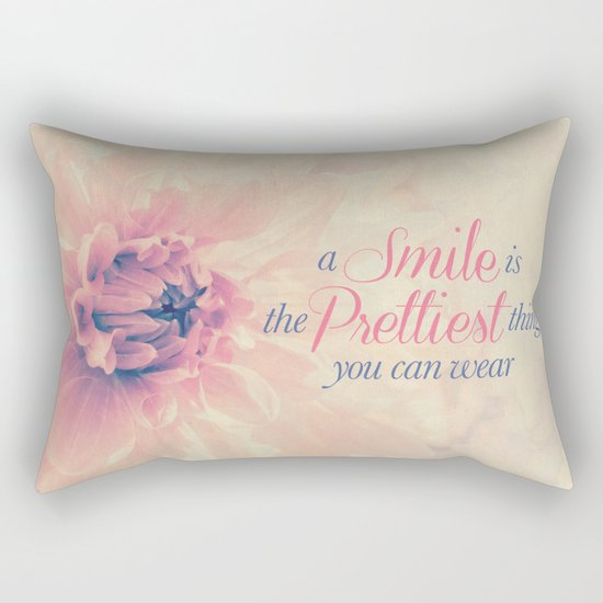 Spring Dahlia I - Her Smile Rectangular Pillow