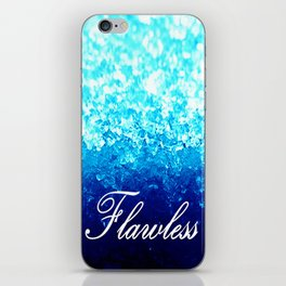 FLAWLeSS Turquoise Crystals iPhone Skin