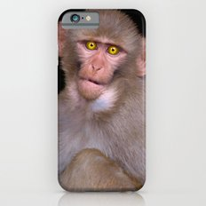 Young Rhesus Macaque Paintover Effect iPhone 6s Slim Case