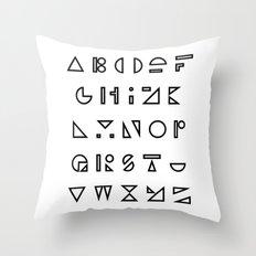 ABC outline Throw Pillow