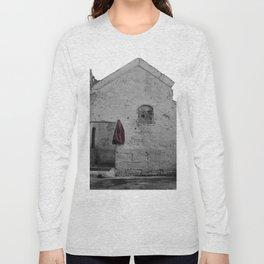 Sassi di Matera with red jacket Long Sleeve T-shirt