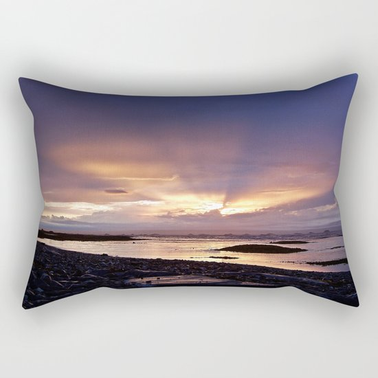 Beams of Light across the Sky Rectangular Pillow