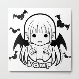 Kawaii Kiddies Cute Vamp Metal Print