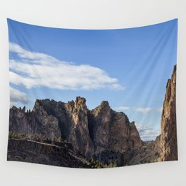River and Rock Wall Tapestry