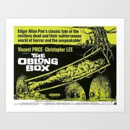 The Oblong Box, vintage horror movie poster Art Print
