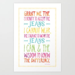 Serenity Jeans Art Print