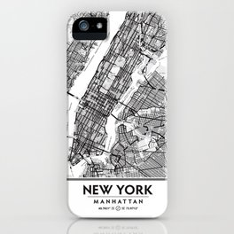 New York City Showing Manhattan, Brooklyn and New Jersey iPhone Case