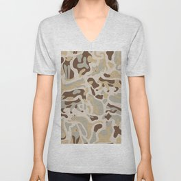 Camouflage pattern with CATS Unisex V-Neck