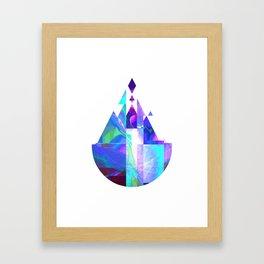 Purple Castle Framed Art Print