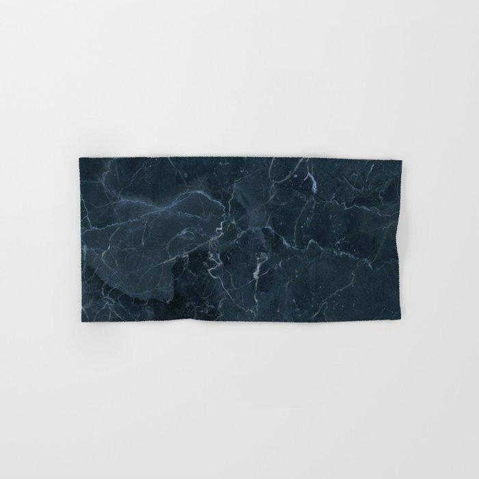 Dark blue marble texture Hand & Bath Towel