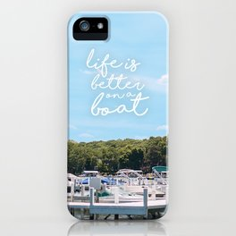 life on a boat iPhone Case