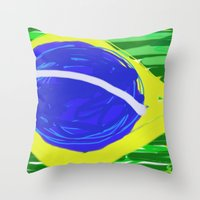brasil Throw Pillows featuring BRASIL by Fabiano ART