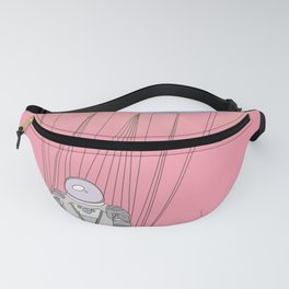 The Moon-Man Floating Through the Pink Universe Fanny Pack