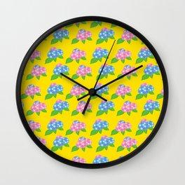 Hydrangea Pattern_C Wall Clock