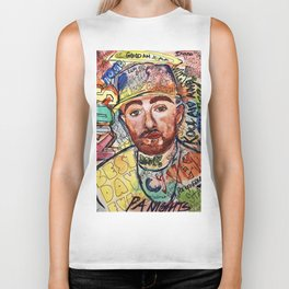 KIDS,colourful,colorful,poster,wall art, fan art,music,hiphop,rap,rip,rapper,legend,best day ever Biker Tank