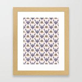 Boho Purple Floral Pattern Framed Art Print
