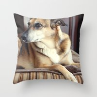 copper Throw Pillows featuring Copper by Irène Sneddon