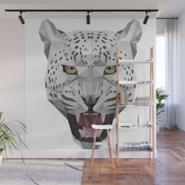 Snow Leopard Head Wall Mural