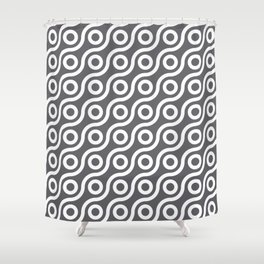 Fisheye Grey & White Shower Curtain