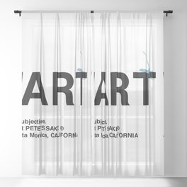 """""""ART"""" Sheer Curtain"""
