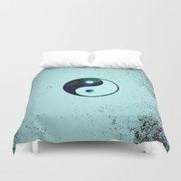 yin yang Duvet Covers featuring Yin & Yang by Mr and Mrs Quirynen