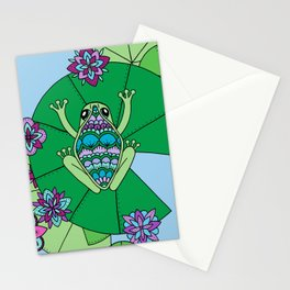 Frog and Lily Pads Stationery Cards