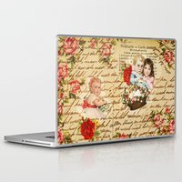 shabby chic Laptop & iPad Skins featuring Shabby Chic by Diego Tirigall