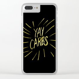 yay carbs Clear iPhone Case