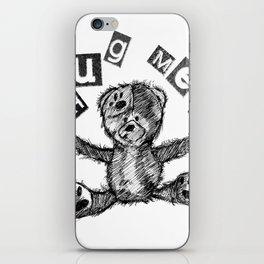 I Need A Bear Hug iPhone Skin