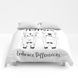 Autism Embrace Differences Comforters