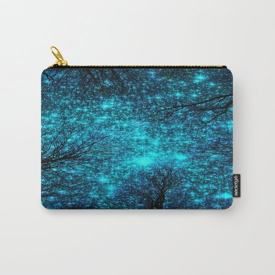 Black Trees Deep Teal Space. Carry-All Pouch