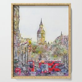 London Street 4 by Jennifer Berdy Serving Tray