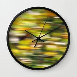Autumn wind (abstract) Wall Clock