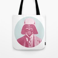 darth Tote Bags featuring Darth Vader by NJ-Illustrations
